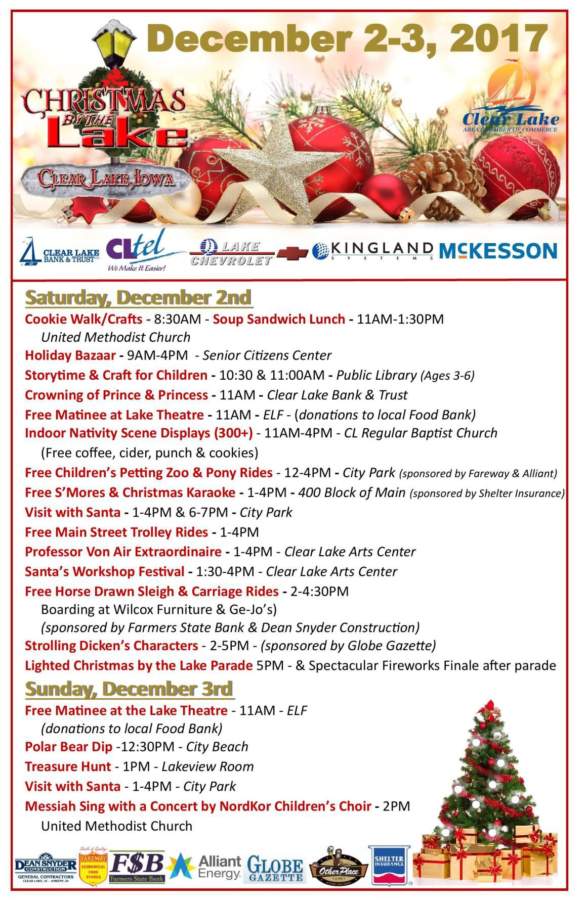 Christmas by the Lake 2017 Schedule