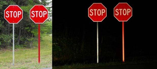 Reflective Sign Posts