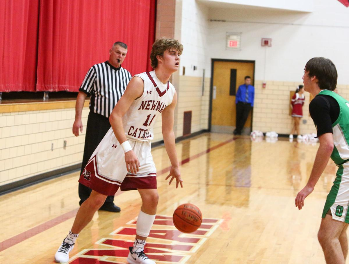 Newman Catholic boys basketball vs Osage