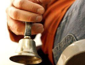 Salvation Army bell ringer weblogo