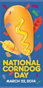 national corndog day badge
