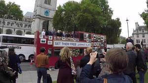 Campaigners Against Arbitrary Detention in Syria Drive 'Freedom Bus' Around London