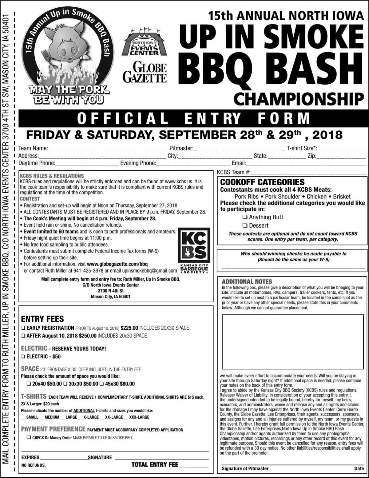 2018 Cooks Application Form