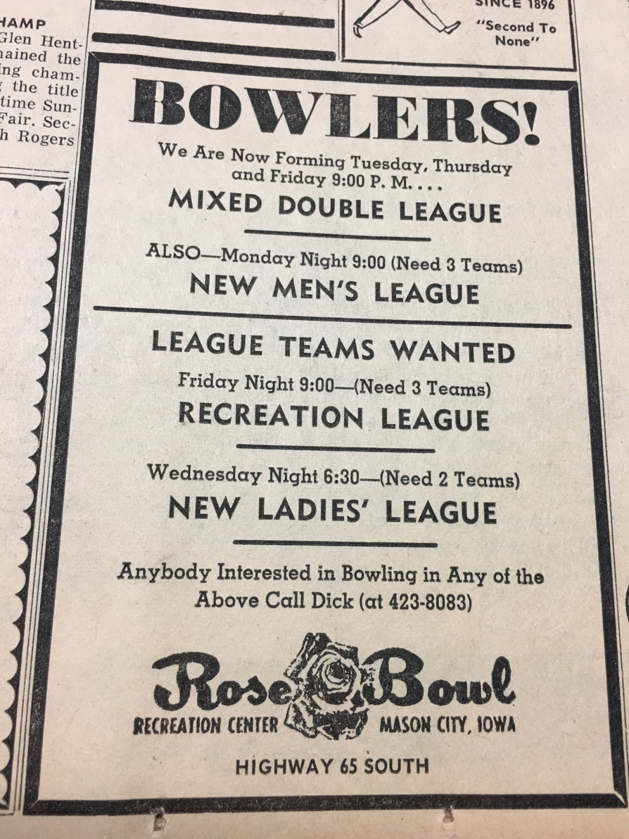 A Blast From The Past North Iowa Advertising From The 1950s To