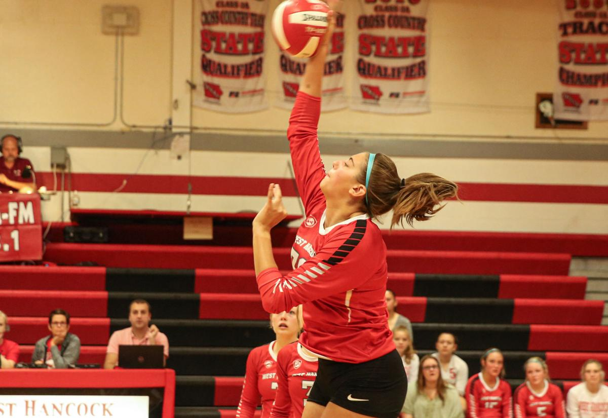 West Hancock volleyball vs North Iowa - Aitchison