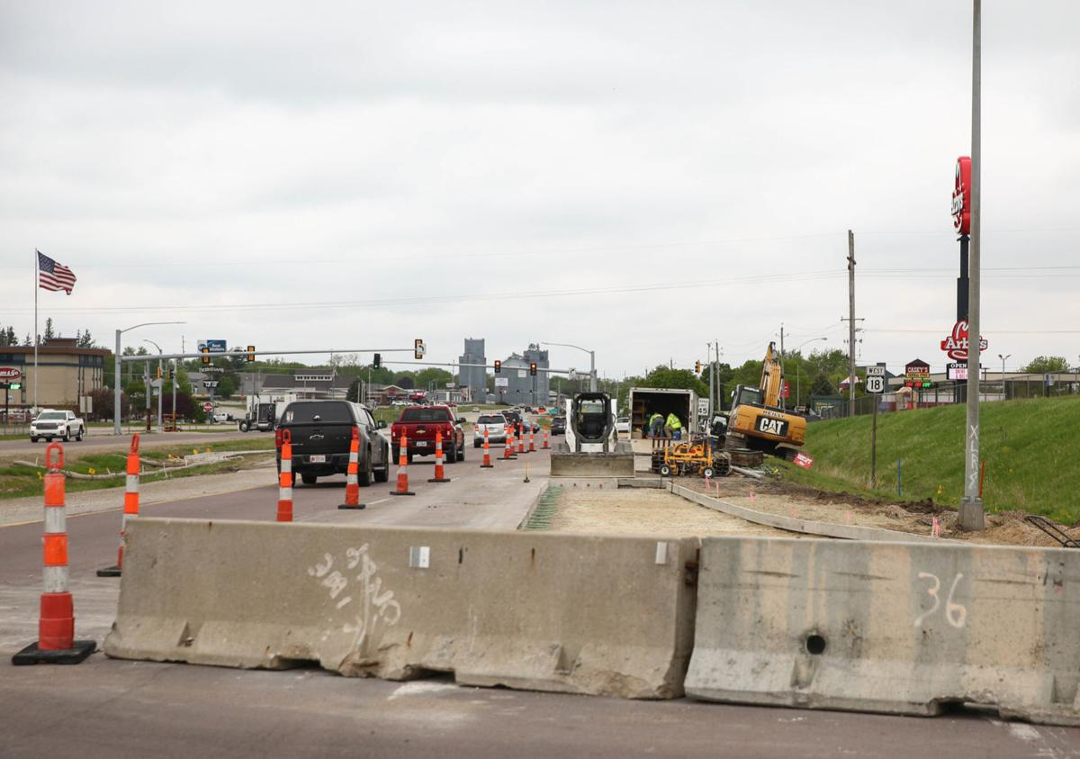 Clear Lake Highway 122 construction 1