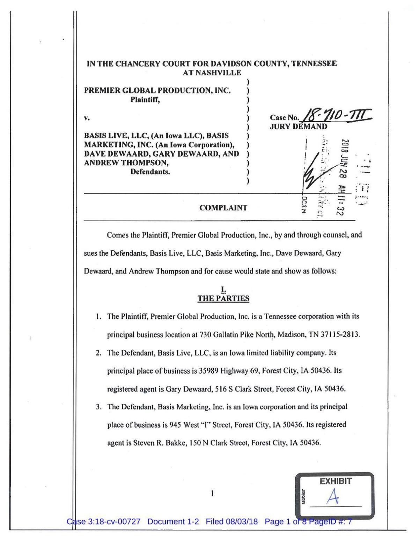Premier lawsuit