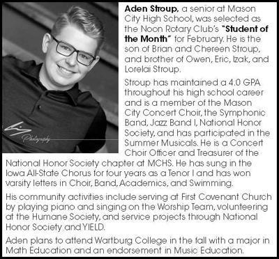 Congratulations Aden Stroup