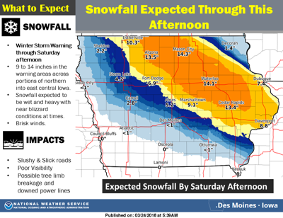 Road Conditions In Iowa Map.Update 14 18 Inches Of Snow In North Iowa 13 So Far In Mason City