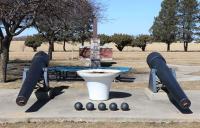 Cannons at Veterans Memorial in Osage