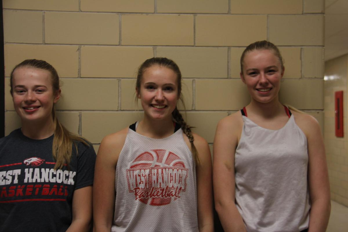West Hancock girls basketball captains