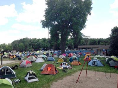 RAGBRAI tents