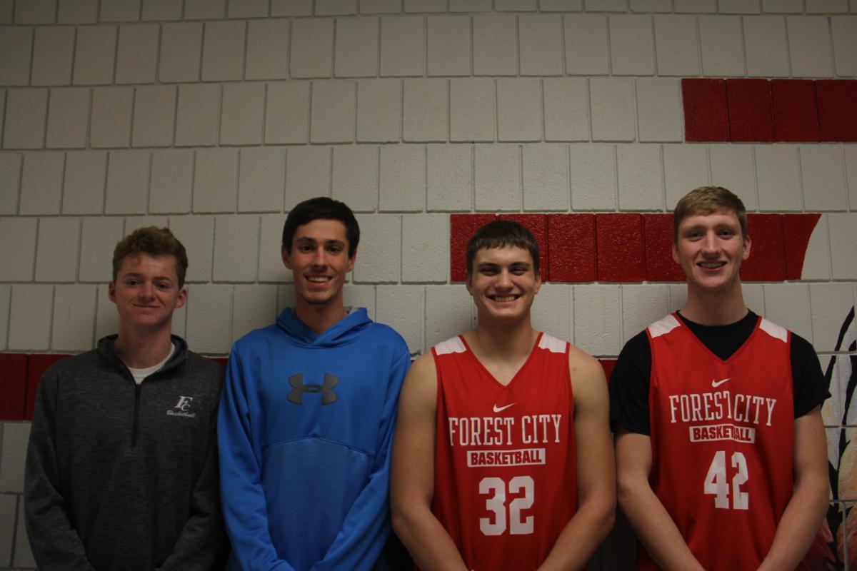 Forest City High School Boys' Basketball captains