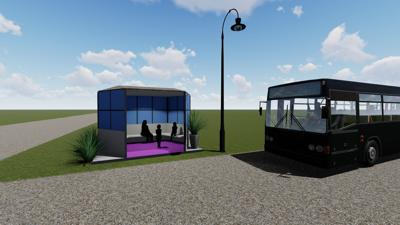 Plymouth bus stop rendering
