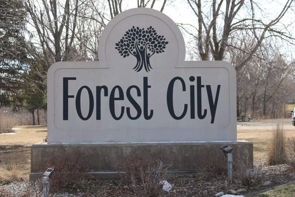 Forest City Welcome Sign