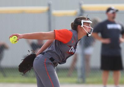 Charles City softball #2 Samantha Heyer