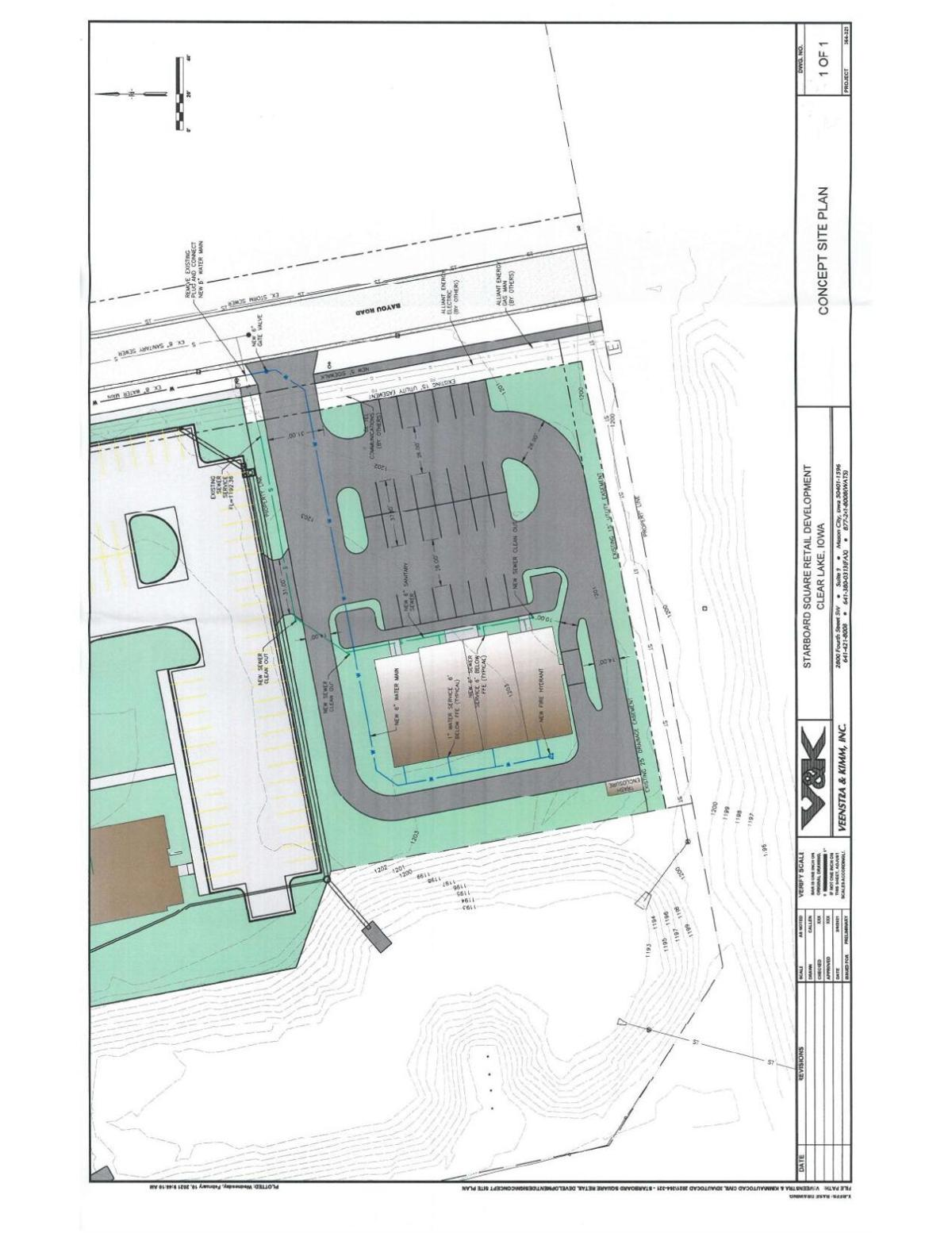 Concept Site Plan - Starboard Square Retail Development in Clear Lake