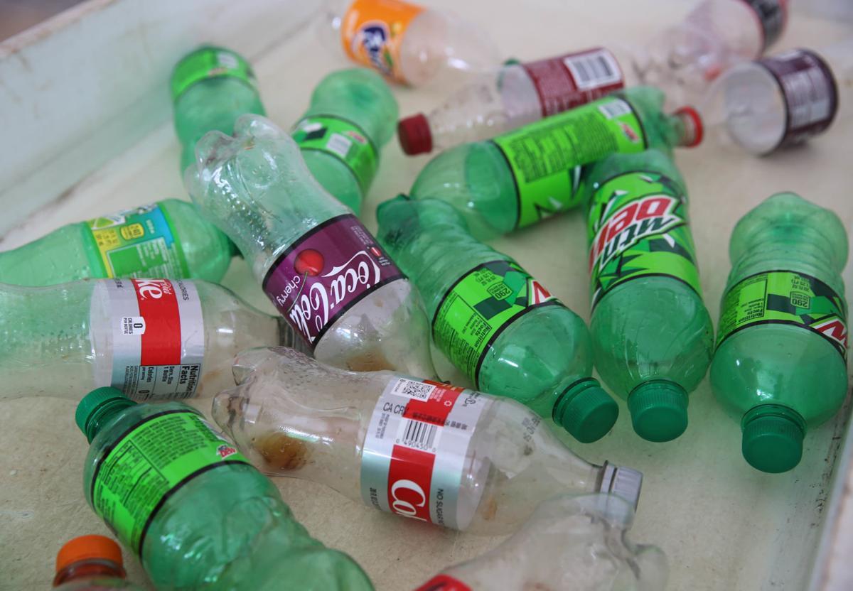 Soda bottles at redemption center
