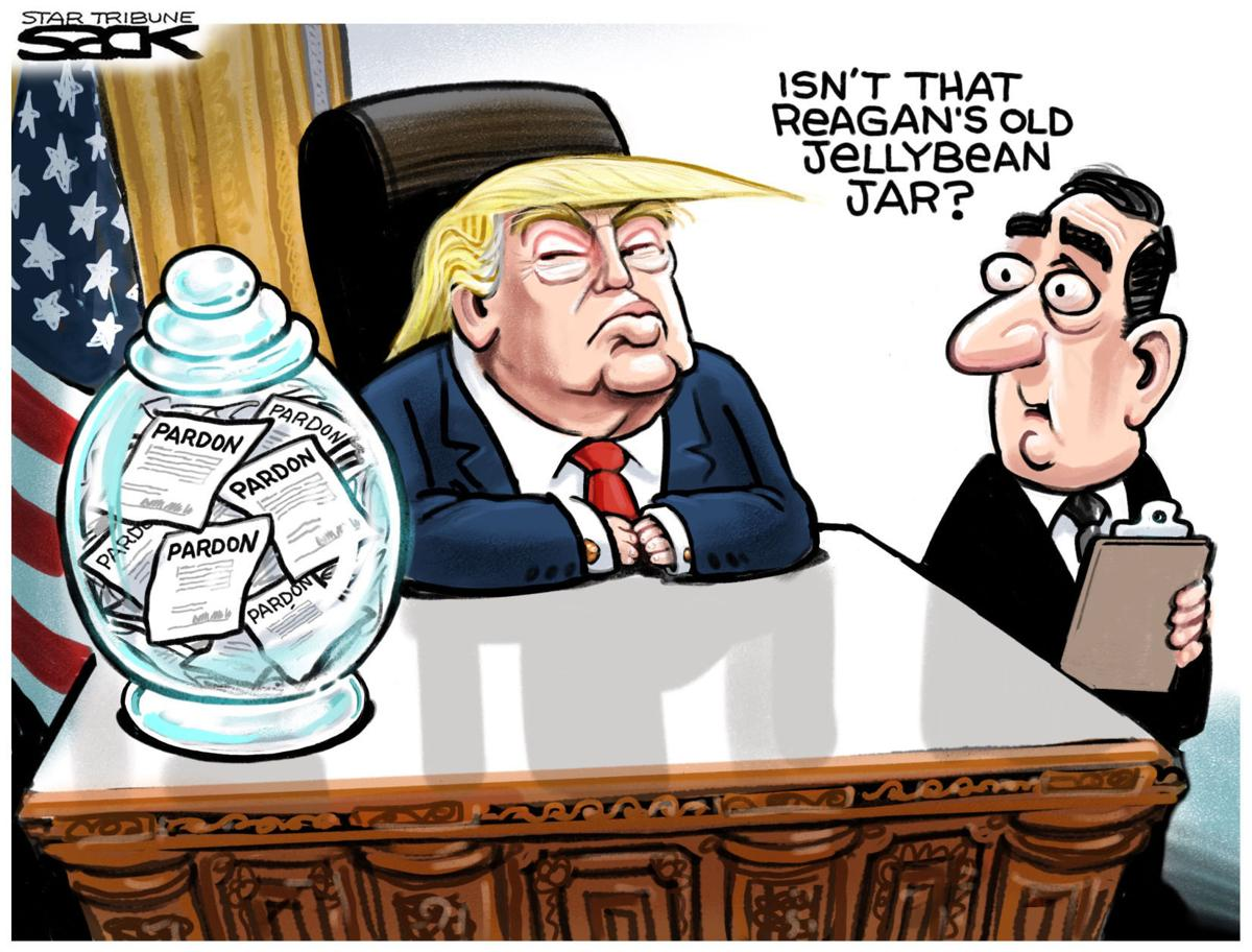 Political Cartoons Pardons Repeal Spicer Press Drug
