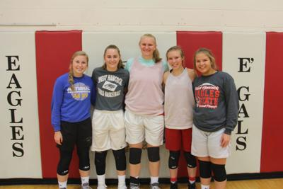 West Hancock Girls Basketball starters