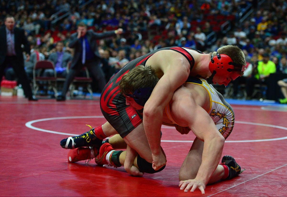 State Wrestling Sat Finals  Arbegast 87