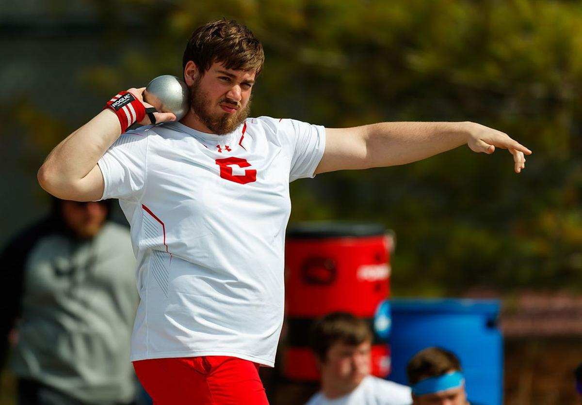 Theo Baldus throws for Central 2