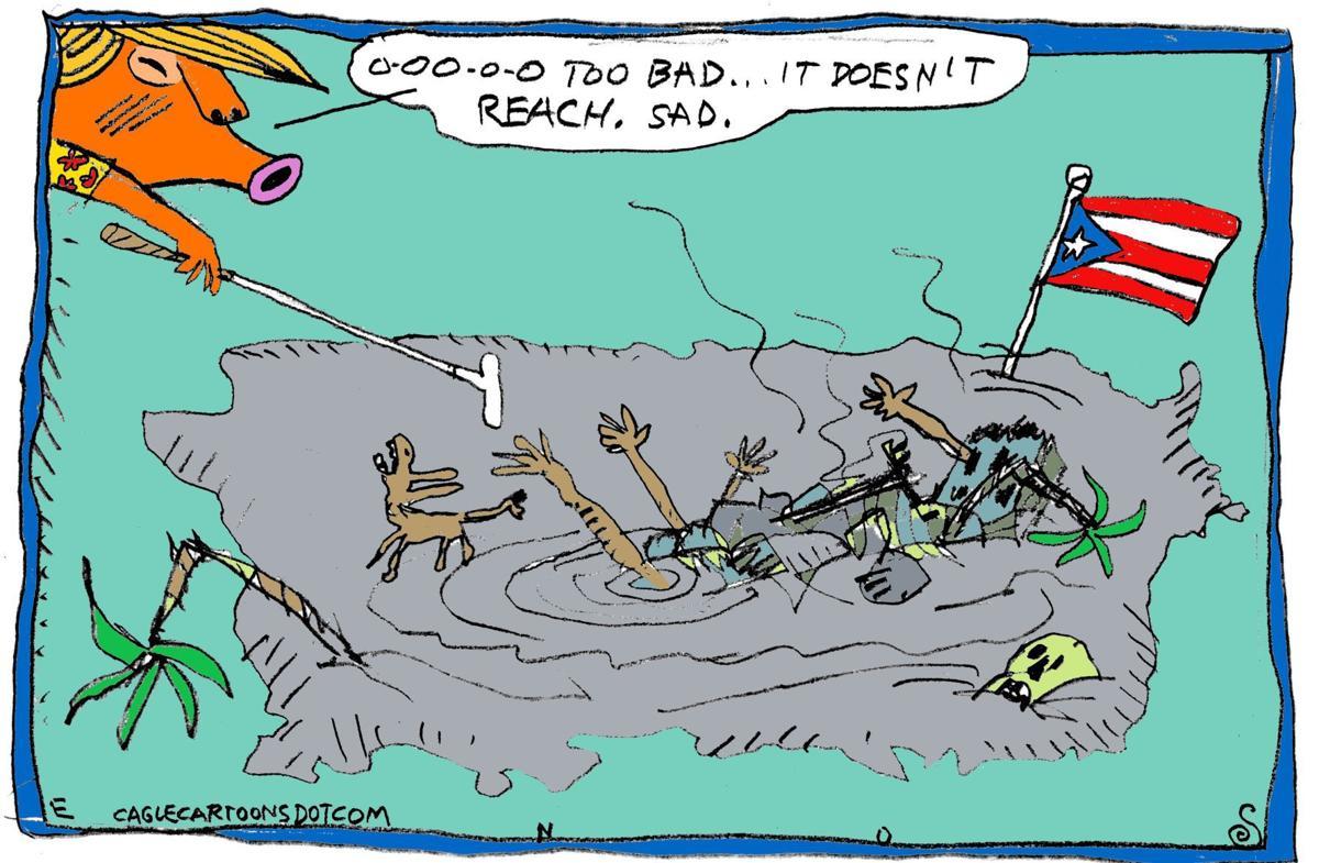 Helping Puerto Rico by Randall Enos, Cagle Cartoons