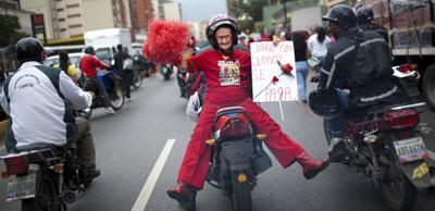 APTOPIX Venezuela International Women Day
