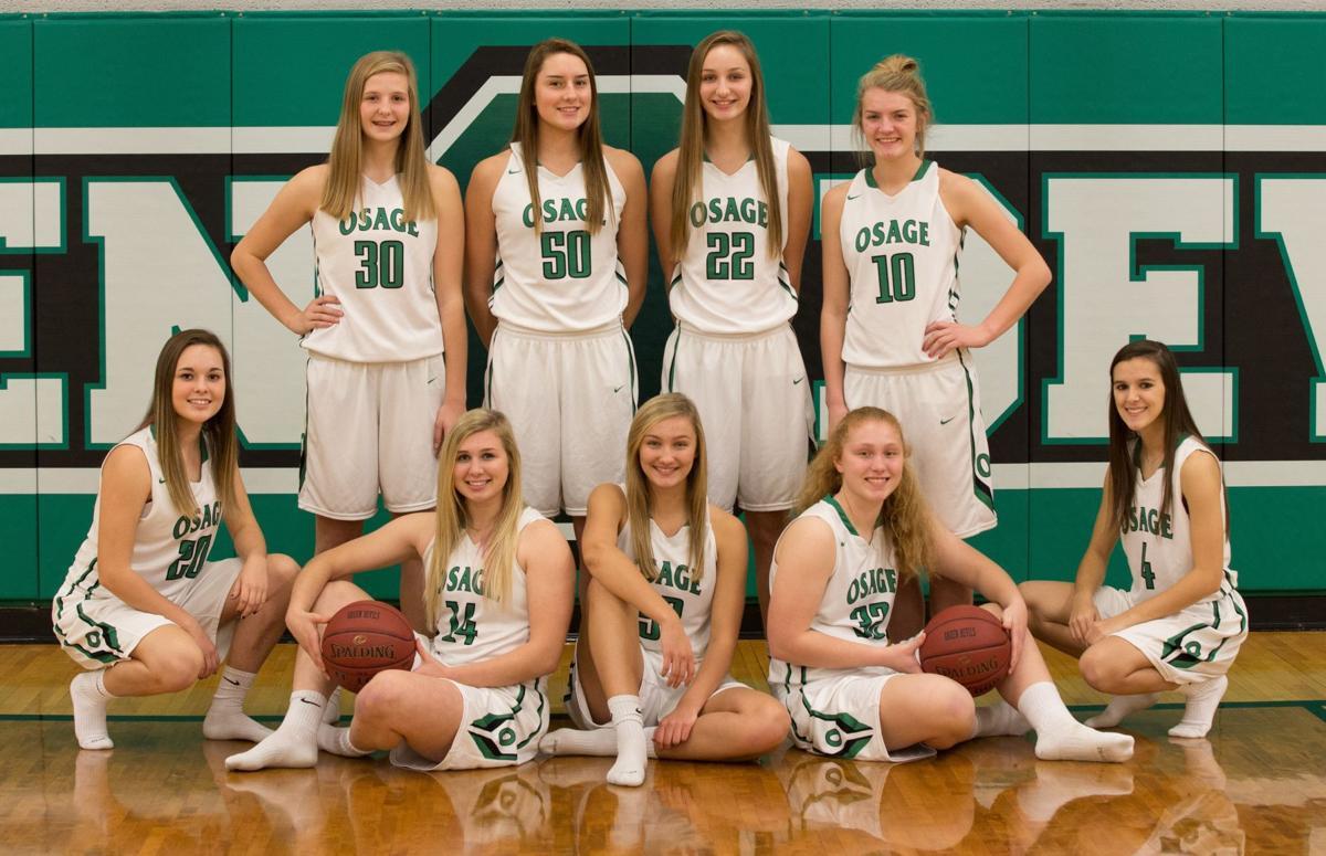 Osage girls basketball team