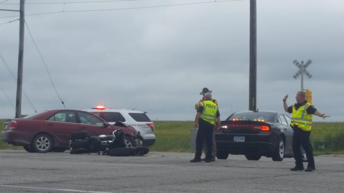 Police identify motorcyclist hurt in Mason City crash Friday