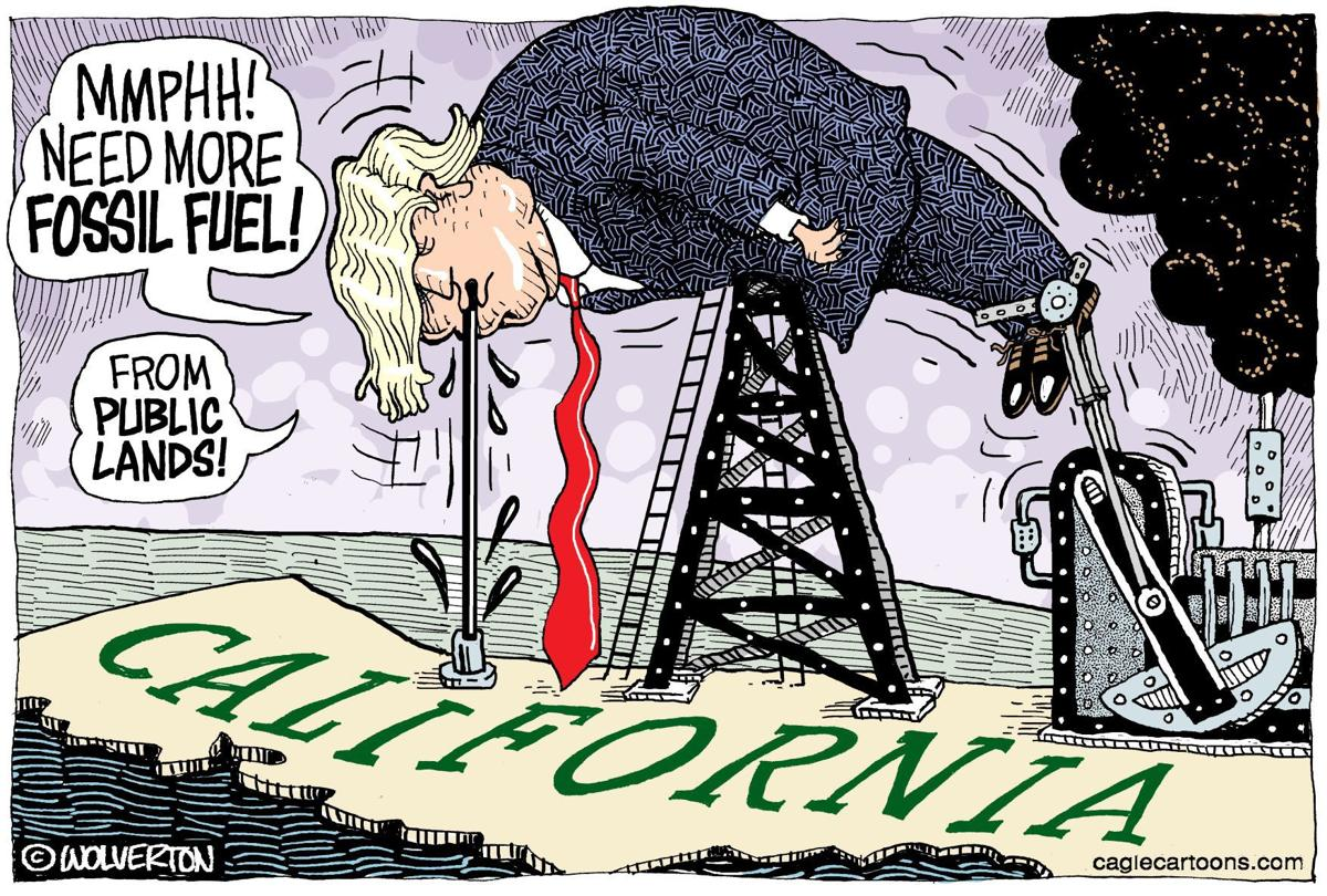 Trump Opens Public Lands to Oil by Wolverton, Cagle Cartoons