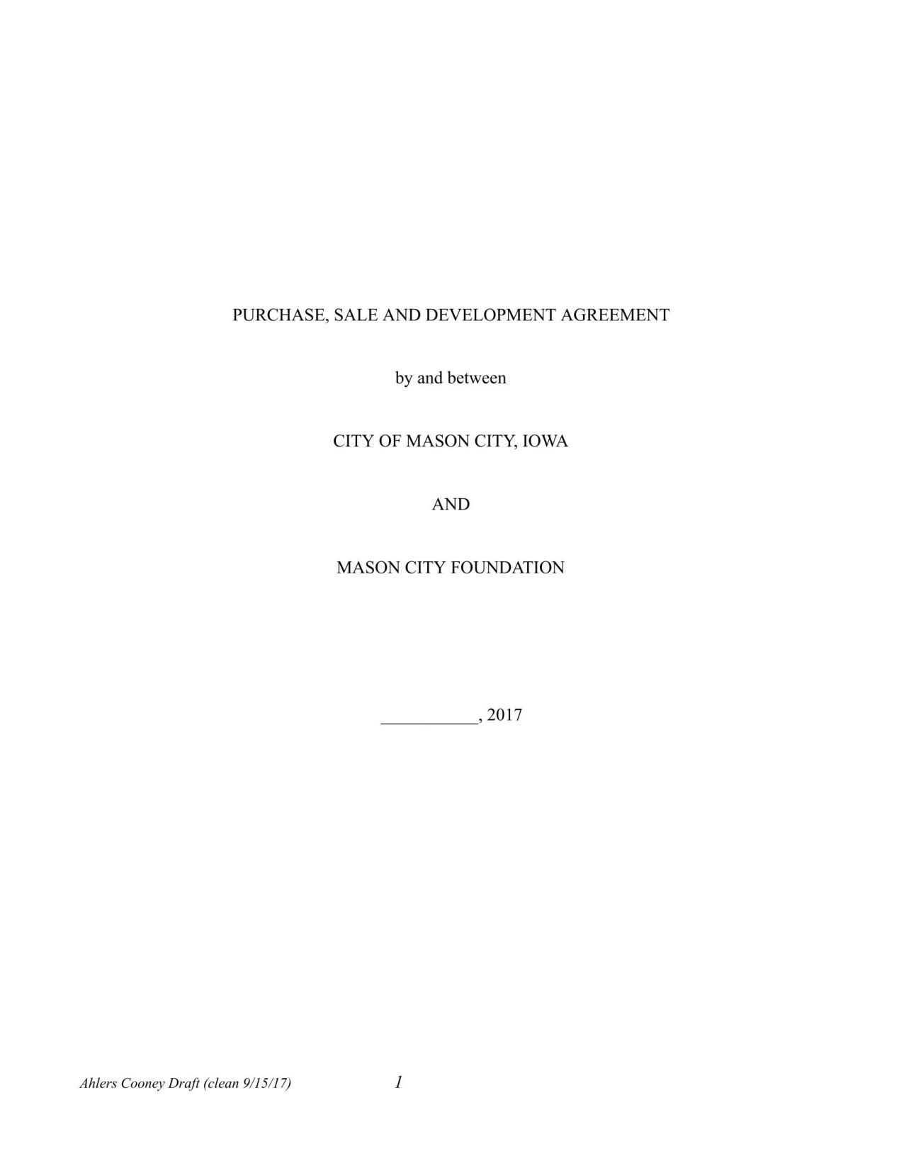 Download PDF Downtown Project   Development Agreement