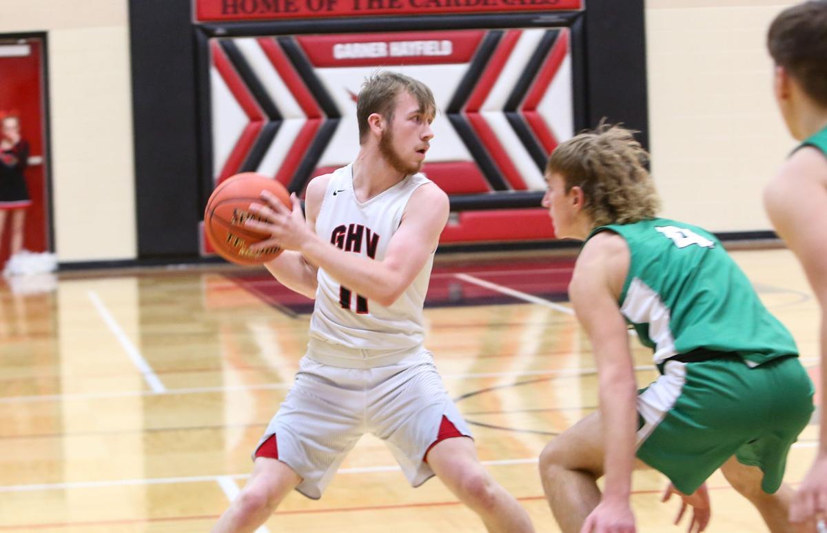 Garner-Hayfield-Ventura boys basketball vs Osage - Suby