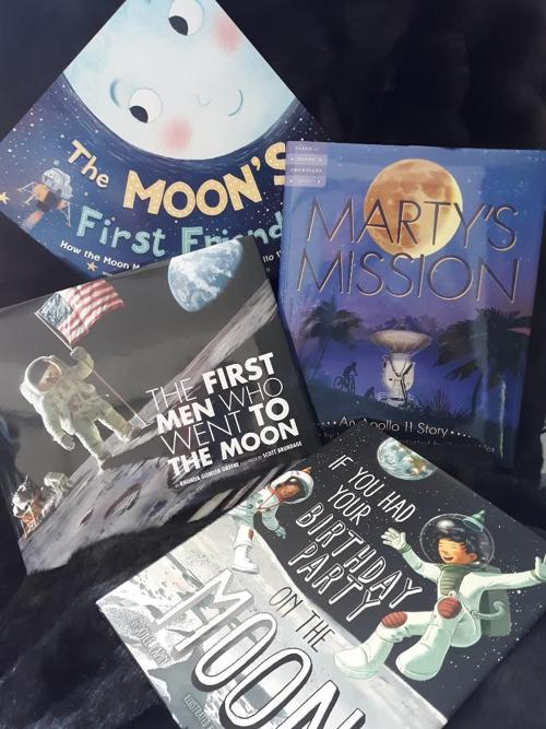 Moon anniversary books for kids