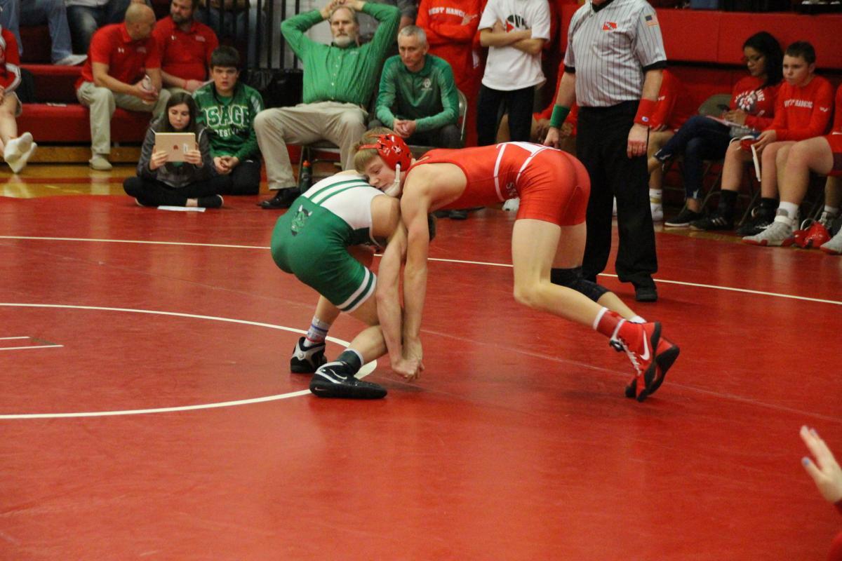 Forest City wrestling vs Osage