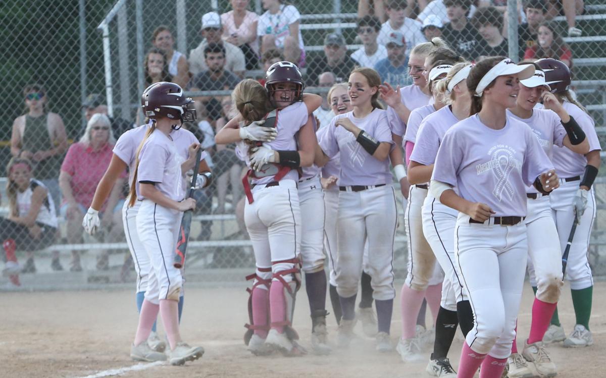 MCHS vs Newman softball - Wadle homerun