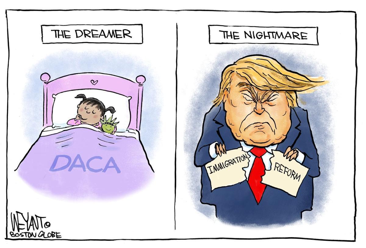 Dreamer's Nightmare by Christopher Weyant, The Boston Globe