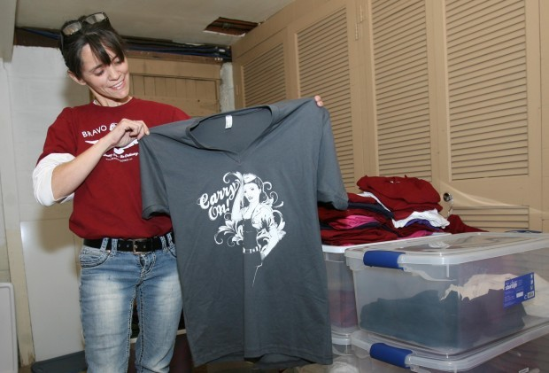 Clear lake woman a partner in military themed online t for Local t shirt printing company