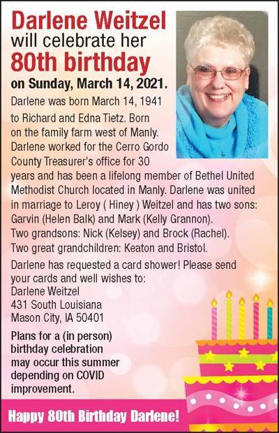 Happy Birthday Darlene Weitzel