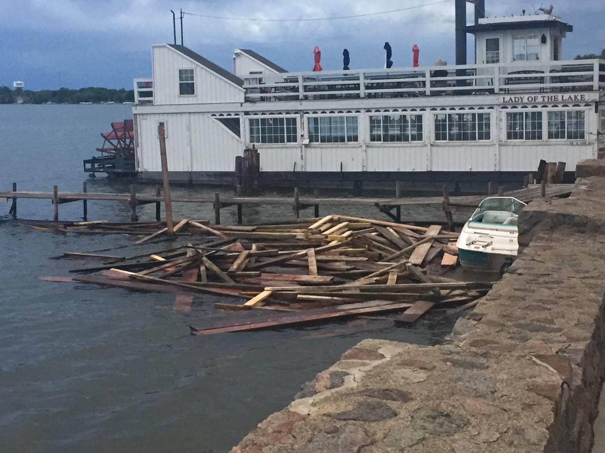 Dock destroyed