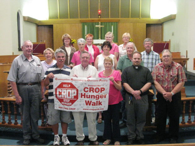Representatives of churches who regularly participate in the Mitchell County Crop Walk