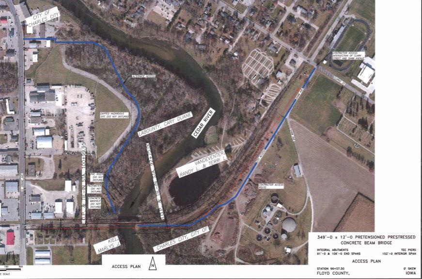 Charley Western Trail Bridge plan