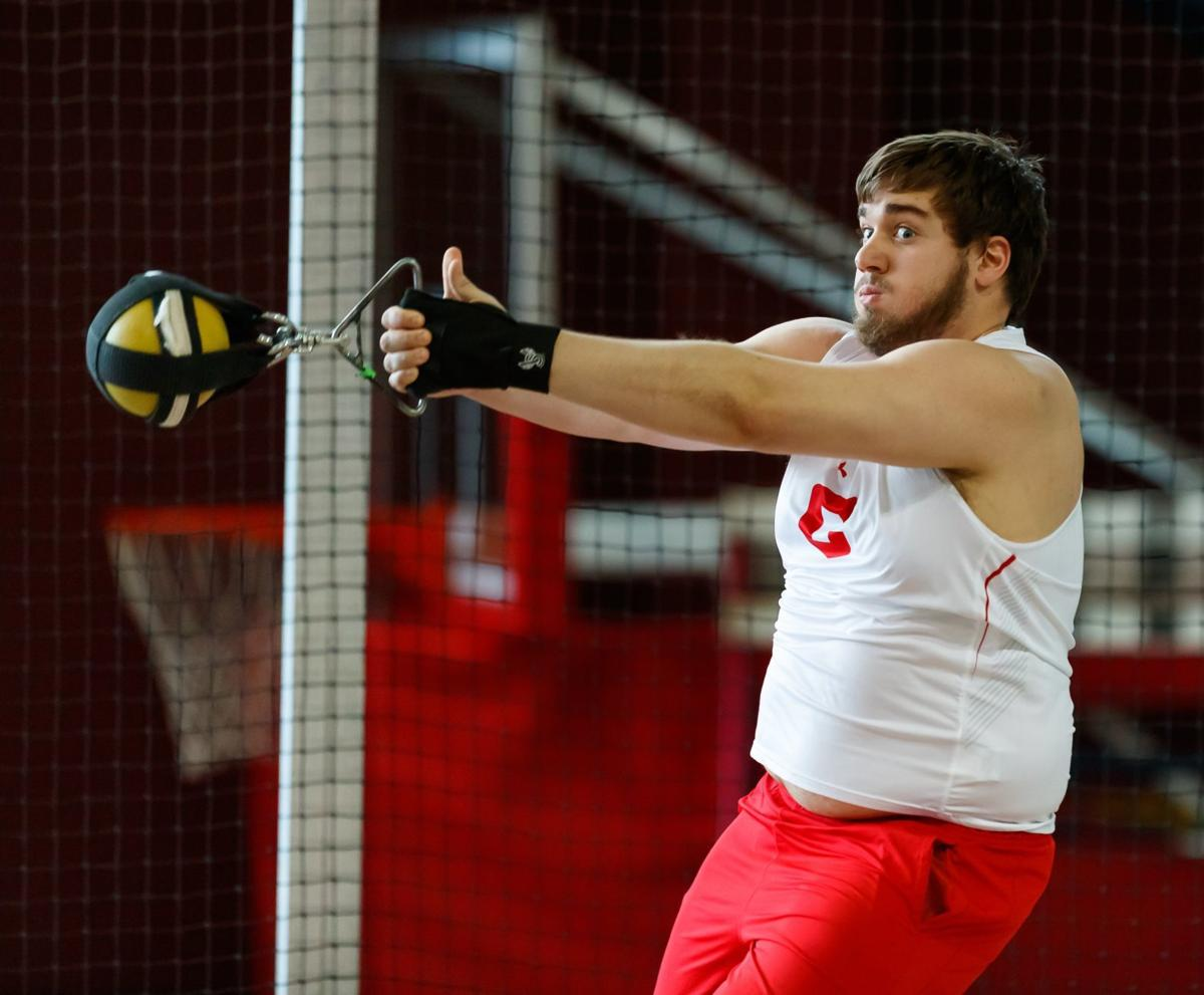 Theo Baldus throws for Central 1