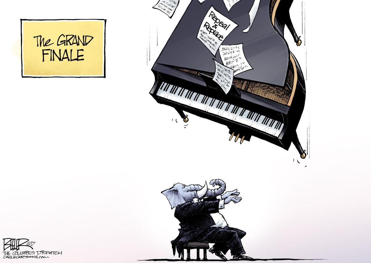 Health Care Fail by Nate Beeler, The Columbus Dispatch