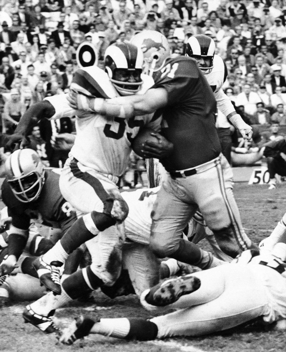 Football Pro NFL Games 1968 Los Angeles vs Detroit