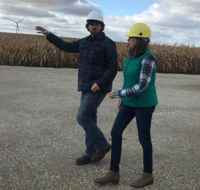 Greenfield tours Turtle Creek Windfarm