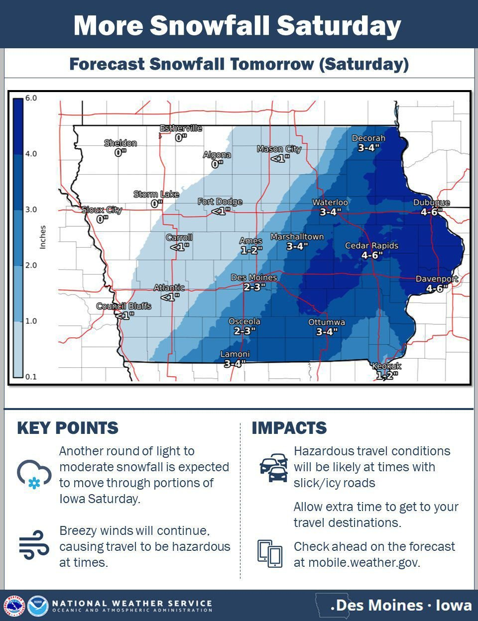 Saturday Weather Outlook