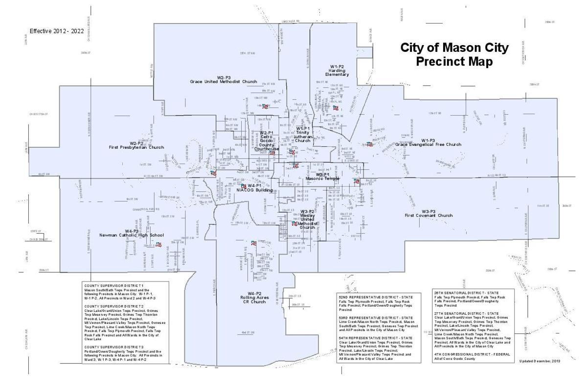 map of mason city iowa Mason City Precinct Map Globegazette Com map of mason city iowa