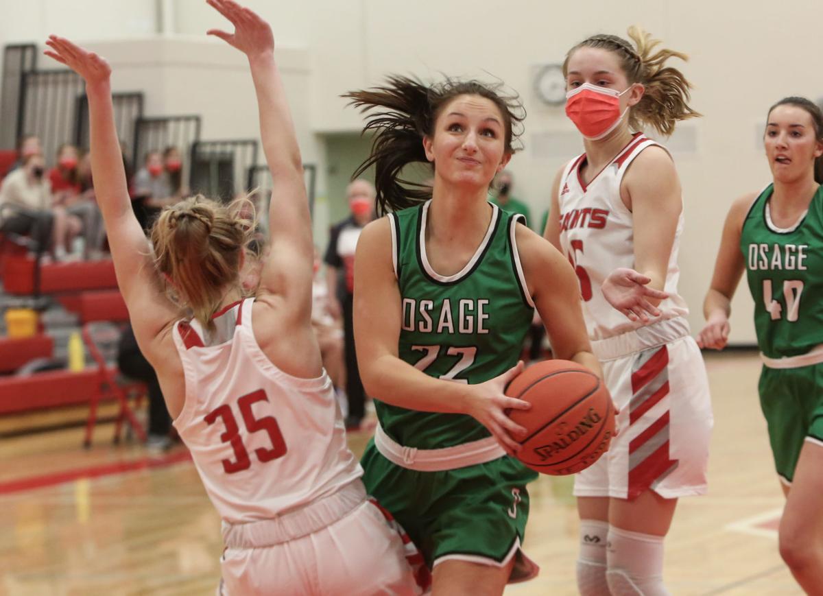 St. Ansgar girls basketball vs Osage - Johnson