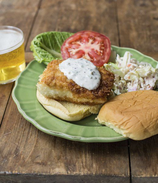 fried fish sandwich recipe calls for less work oil